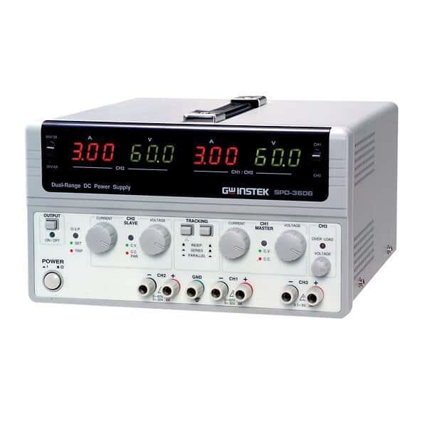 gw instek spd-3606 multiple output, dual range, dc power supply