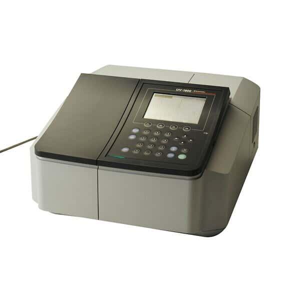shimadzu uv-1800 uv/visible scanning spectrophotometer; 115 vac