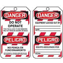 Lockout and Tagout Danger Tags