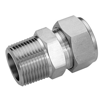 Compression To Thread Adapter Stainless Steel 10mm Od