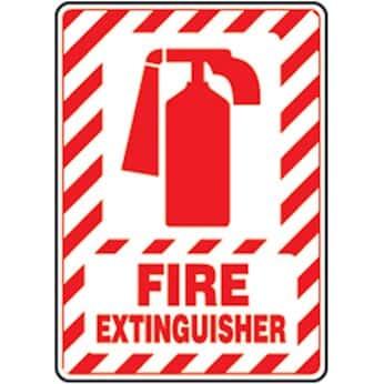 Accuform MFXG516VS Safety Sign, Fire Extinguisher (symbol), 14 X ...