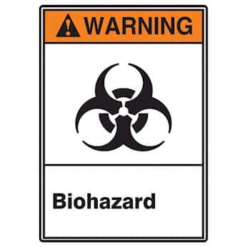 Accuform MRHZ306VA LegendWARNING BIOHAZARD AUTHORIZED PERSONNEL ONLY Sign 10 Height 14 Wide 10 Length Black//Orange//Yellow on White Aluminum 0.040 Thickness