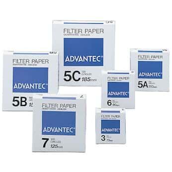 Advantec N05C7.0CM Grade 5C Ashless Quantitative Filters 5 um 7 cm; 100//Pk Cole-Parmer