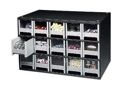 Akro Mils 19 715 Storage Cabinet, 15 Drawer; 17