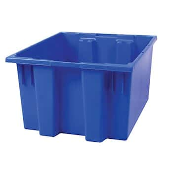 Akro Mils 35 230 Blue Hdpe Storage Tote Bo X Without Lid