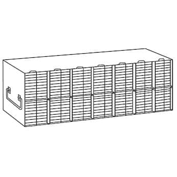 Argos Technologies PolarSafe® R96168A Upright Freezer Rack for 96/384-Well Microtiter Plates accepts 168 with lids or 196 without lids  sc 1 st  Cole-Parmer & Argos Technologies PolarSafe® R96168A Upright Freezer Rack for 96 ...
