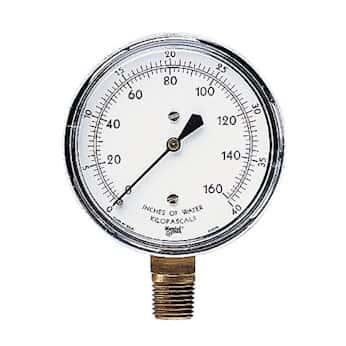 Natural Gas Wc Pressure