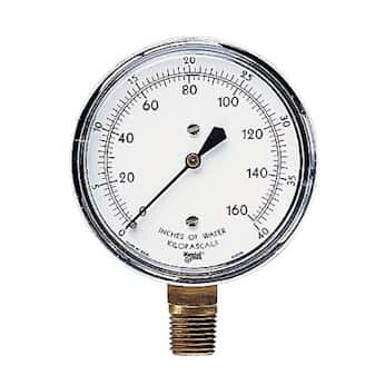 ashcroft 14902 5 dual scale low pressure gauge 0 to 3 psi and 0 to