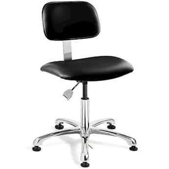 Bevco 4050e3 Blk Desk Height Esd Iso 6 Cleanroom Black Vinyl Chair Al Base From Cole Parmer Germany