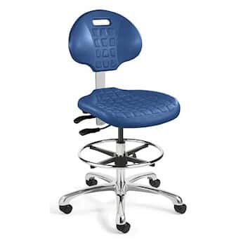 Bevco 7500 BLUE Polyurethane Chair, Blue, Seat Height 22