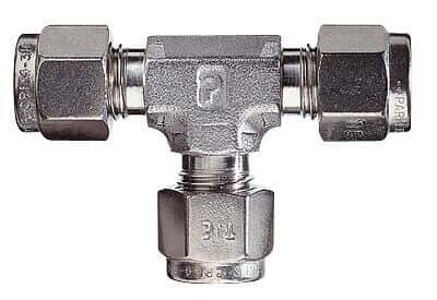Compression fittings, Union Tees, 316 SS, 1/8