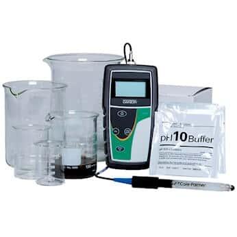 Handheld Meter with ATC; Order pH Probe Separately Oakton pH 5