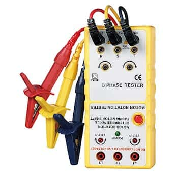 Three phase and motor rotation tester from cole parmer canada for 3 phase motor rotation