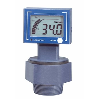 Digital Ultrasonic Drum Level Gauge Battery Powered From