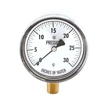 cole parmer pressure gauge 1 4 npt m process connection 0 to 30