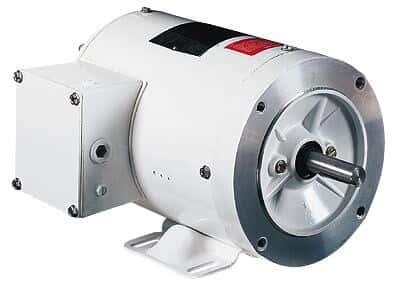 Washdown Duty NEMA Type C-face Rigid Base Single-phase Motor