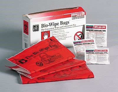bio wipe bag with pdi germicidal wipes from cole parmer