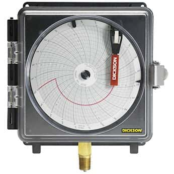 Dickson pw866 8 pressure chart recorder 0 to 300 psi 7 day chart