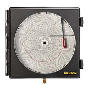 Dickson pw875 8 pressure chart recorder 0 to 1000 psi 24 hour
