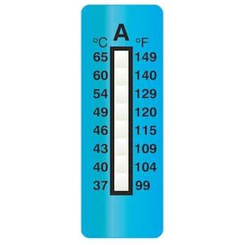 Digi-Sense Irreversible 8-Point Vertical Temperature Label, 100-150F