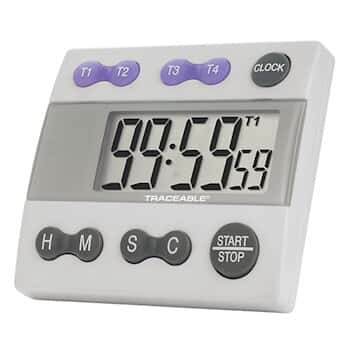 digi sense four channel jumbo display clock timer from cole parmer