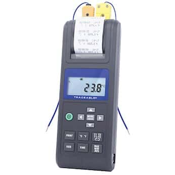 Digi Sense TraceableR Printing Thermocouple Thermometer With Calibration From Cole Parmer Canada