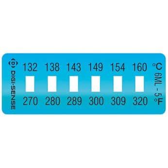 digi sense irreversible 6 point horizontal temperature label 270 320f 132 160c 10 pk from masterflex masterflex
