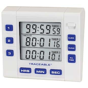 digi sense traceable triple display clock timer with calibration