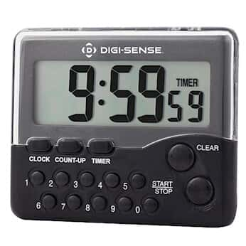 digi sense push button clock timer with back clip and magnet from