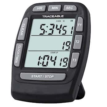 digi sense traceable triple display digital clock timer from cole