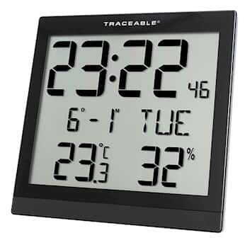 digisense traceable digital wall clock with calibration