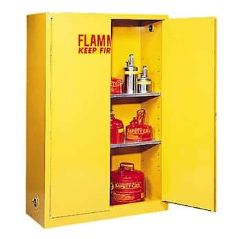 Charming Eagle 1947 Flammable Storage Cabinet, Manual Latching Door, 45 Gallon