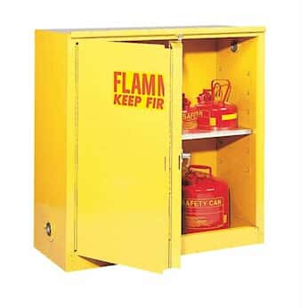 Charming Eagle 3010 Flammable Storage Cabinet, Self Closing Doors, 30 Gallon