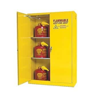 Eagle 4510 Flammable Storage Cabinet, Self Closing Doors, 45 Gallon