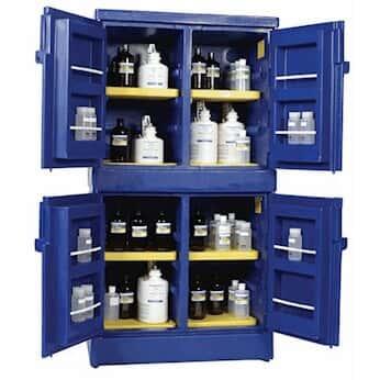 Eagle CRA P44 PE Acid And Corrosive Cabinets, 44 Gal, Blue