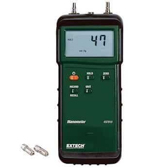 differential manometer. extech 407910 heavy duty differential manometer