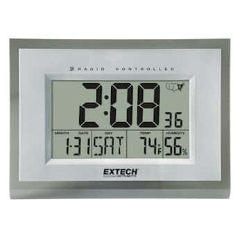 Extech 445706 Large Digital Clock With Humidity And