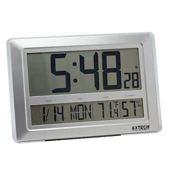 Extech CTH10A Large Wall/Desktop Clock with Calendar