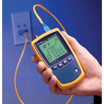 photo about Cat6 Cable Tester With Printable Results named Fluke CIQ-100 CableIQ Qualification Tester versus Cole-Parmer