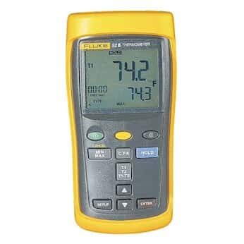 Fluke 52-2 60HZ Thermocouple Thermometer with Dual Inputs