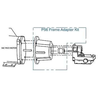 Fmi P56c Series Q Pump Head To Nema Type 56 C Face Motor