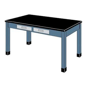 Hamilton Scientific 2 Drawer Wood Lab Table With Epoxy Resin Top