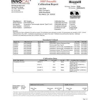 InnoCal NIST-Traceable Calibration