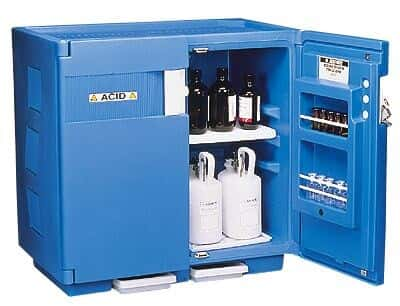 Nice Justrite 24160 HDPE Full Size Acid Storage Cabinet, 83 L