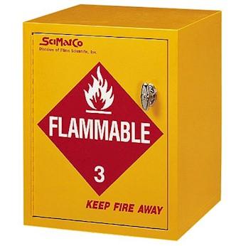 SciMatCo SC8021 Flammable Storage Cabinet, 4 Gallon Capacity,  Manual Latching Door