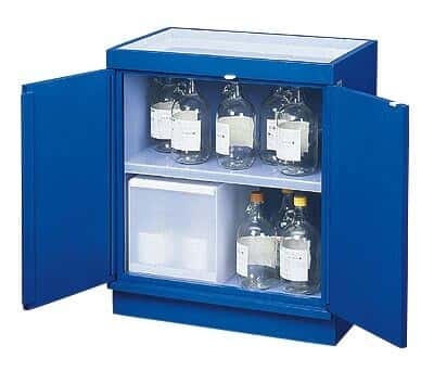 Lovely SciMatCo SC8051 Acid Storage Cabinet, Wood, Full Lining; 30 X 2.5L Capacity