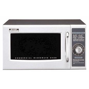 Sharp R 21lcf Microwave Oven Stainless Steel 0 95 Cu Ft 1000 Watt 120vac