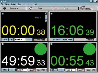 Sper Scientific 810050 TIME IT PC Timer Software For Windows From Masterflex