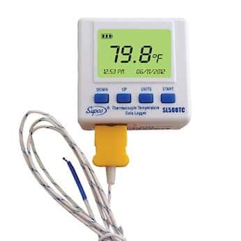 supco sl500tc thermocouple temperature data logger with real time lcd - Temperature Data Logger