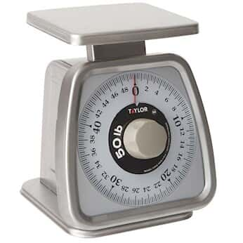 Taylor TS50 Heavy Duty Mechanical SS Food Scale, 50 Lb X 4 Oz. Rotating  Dial From Cole Parmer